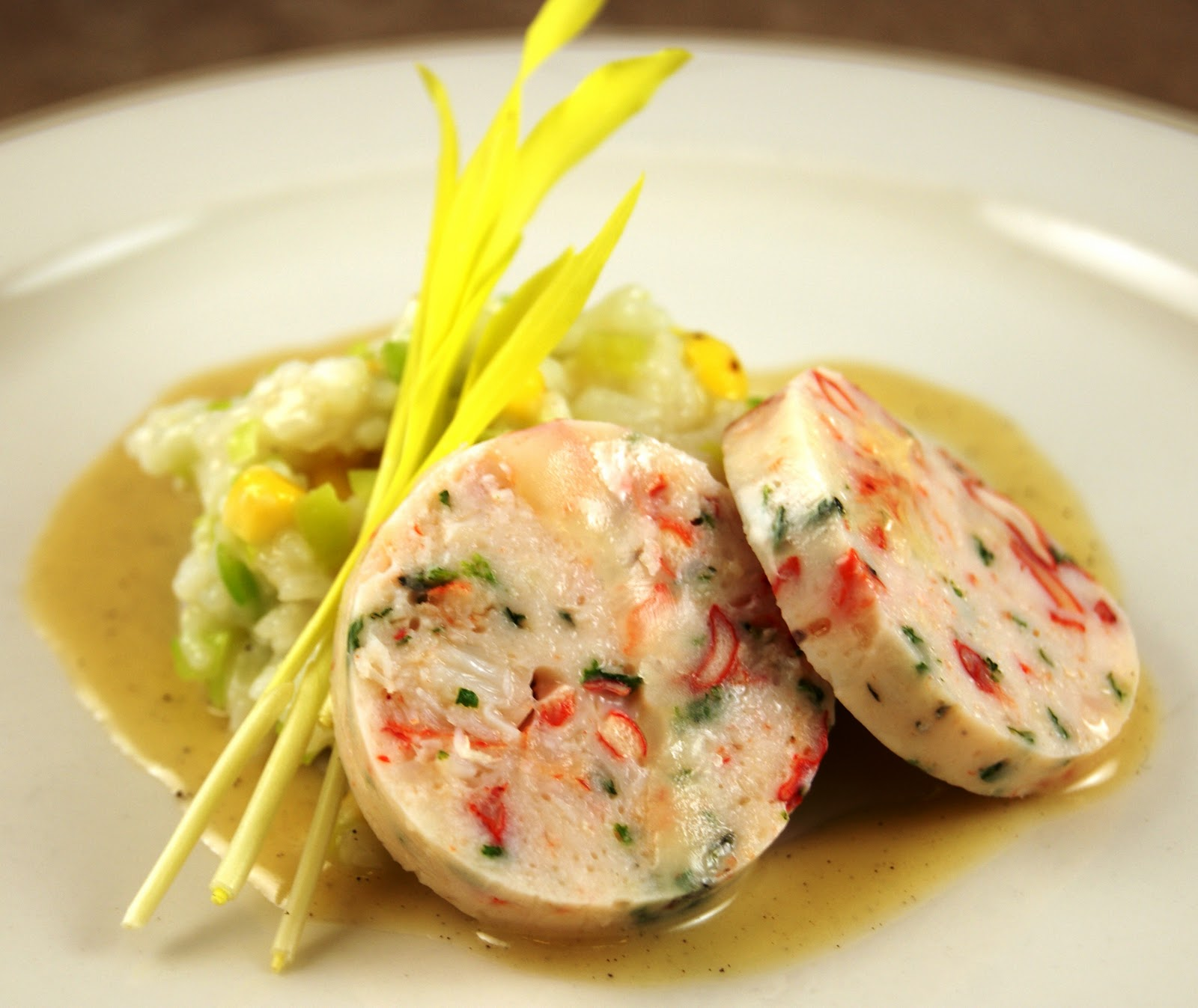 Warm Shellfish Terrine with Roasted Corn and Leek Risotto, Beurre Noisette – If You Can Stand ...